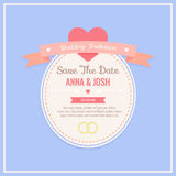 De uitnodigingskaart van het huwelijk Royalty-vrije Stock Foto