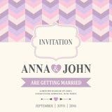 De uitnodigingskaart van het huwelijk Royalty-vrije Stock Fotografie