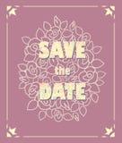 De uitnodigingskaart van het huwelijk Stock Foto
