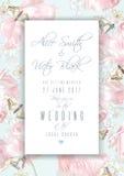 De uitnodigingskader van de tulpenvlinder Stock Foto's