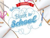 De uitnodigingsmalplaatje van het schoolseizoen Eps 10 Stock Fotografie