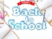 De uitnodigingsmalplaatje van het schoolseizoen Eps 10 Stock Foto's