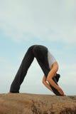 De Uitoefenaar van de yoga Royalty-vrije Stock Foto's