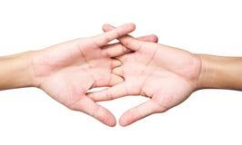 De uitrekkende ionen witte achtergrond van de oefeningenvinger, mede gezondheidszorg Royalty-vrije Stock Afbeelding