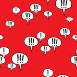 De uitroeptekst ondertekent Rood Patroon Stock Afbeeldingen