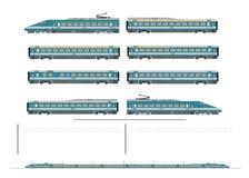 De treinuitrusting van de hoge snelheid royalty-vrije illustratie