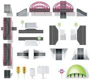 De uitrusting van de de kaartverwezenlijking van de stad (DIY). Deel 10. Elemets Royalty-vrije Stock Afbeelding