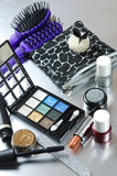 De uitrusting van de make-up Stock Fotografie