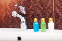 De uitrusting van hotelschoonheidsmiddelen Stock Foto's