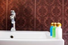 De uitrusting van hotelschoonheidsmiddelen Royalty-vrije Stock Afbeeldingen