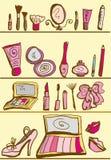 De uitrusting van schoonheidsmiddelen Stock Illustratie