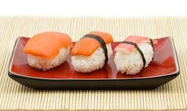 De uitrusting van sushi Stock Foto's