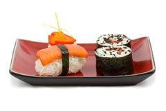 De uitrusting van sushi Stock Foto