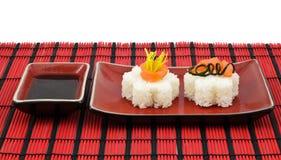De uitrusting van sushi Stock Fotografie