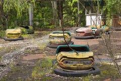 De uitsluitingsstreek van Tchernobyl Stock Afbeeldingen