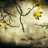 De uitstekende achtergrond van bladeren stock illustratie