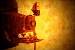 De uitstekende achtergrond van de blaasbalgencamera grunge royalty-vrije stock fotografie
