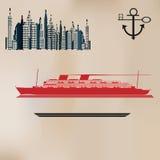 De uitstekende Achtergrond van de Cruise stock illustratie