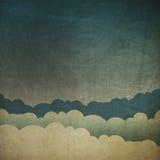 De uitstekende achtergrond van de grungehemel. stock illustratie