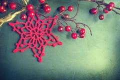 De uitstekende achtergrond van Kerstmis Royalty-vrije Stock Fotografie