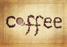 De Uitstekende Achtergrond van koffiegrunge stock illustratie