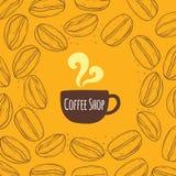 De Uitstekende Achtergrond van de koffiewinkel Stock Afbeelding