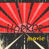 De uitstekende affiche van de verschrikkingsfilm Stock Afbeelding
