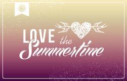 De uitstekende affiche van zomervakanties. Stock Foto