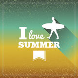 De uitstekende affiche van zomervakanties. Royalty-vrije Stock Foto's