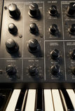 De uitstekende analoge synthesizer van de oscillatorsectie Royalty-vrije Stock Afbeelding