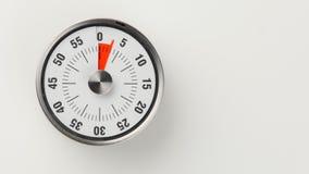 De uitstekende analoge tijdopnemer van de keukenaftelprocedure, 3 minuten het blijven royalty-vrije stock foto's