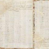 De uitstekende Antieke Achtergrond van het Document van de Tekst stock foto