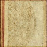 De uitstekende Antieke Achtergrond van het Document van de Tekst Royalty-vrije Stock Fotografie