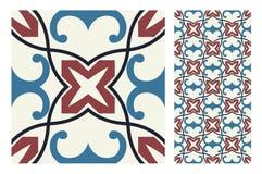De uitstekende antieke naadloze tegels van ontwerppatronen in Vectorillustratie Royalty-vrije Stock Fotografie