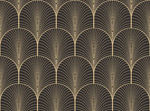 De uitstekende antieke vector van het het behangpatroon van het palet naadloze art deco Stock Fotografie