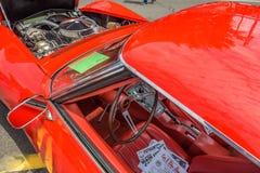 De uitstekende auto detailleert binnenlandse motor en binnenland Stock Afbeeldingen