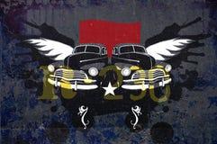 De uitstekende auto's van Grunge stock foto