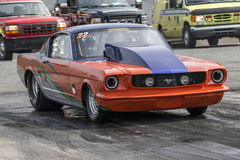 De uitstekende auto van de mustangbelemmering Royalty-vrije Stock Afbeelding