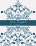 De uitstekende Barokke Keizerstijl van de Uitnodigingskaart Vectordecorachtergrond Luxe gouden ornament Koninklijke Victoriaanse  Stock Fotografie