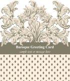 De uitstekende Barokke Vector van de groetkaart Luxeachtergrond voor uitnodigingen, ceremonie, gebeurtenissen Koninklijke Victori Stock Afbeelding