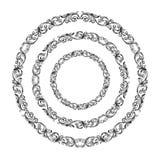 De uitstekende Barokke Victoriaanse ronde van het de grensmonogram van het cirkelkader bloemen het ornamentrol graveerde heraldis stock illustratie