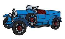 De uitstekende blauwe raceauto stock illustratie