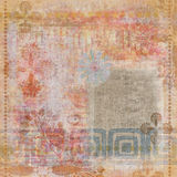 De uitstekende Bloemen Boheemse Achtergrond van het Plakboek van het Tapijtwerk Grunge Royalty-vrije Stock Afbeeldingen