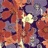 De uitstekende bloemenachtergrond van de kunst Royalty-vrije Stock Fotografie