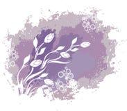 De uitstekende bloemenachtergrond van Grunge Stock Afbeelding