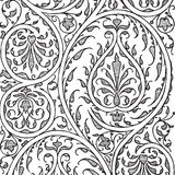 De uitstekende bloemenachtergrond van het damastplakboek vector illustratie