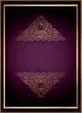 De uitstekende BloemenAchtergrond van het Frame Royalty-vrije Stock Foto
