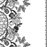 De uitstekende bloemenAchtergrond van het Plakboek Stock Fotografie