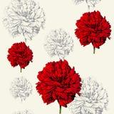 De uitstekende bloemenachtergrond, vormt naadloos patroon Royalty-vrije Stock Afbeeldingen