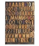 De uitstekende blokken van de letterzetseldruk Stock Foto
